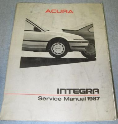 Acura Service on Acura Integra                1986    Acura Integra 1986 Service Manual