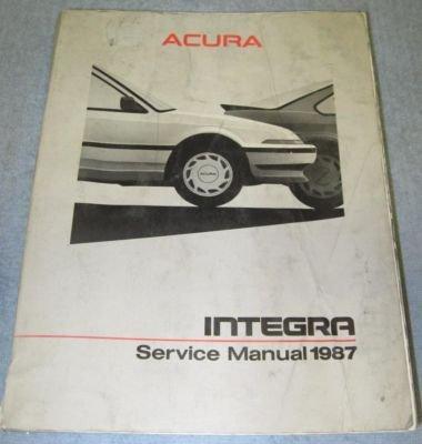 Acura Service on Acura Integra                1986    Acura Integra 1986 Service Manual