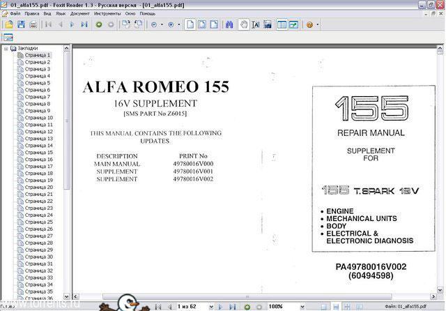 Alfa Romeo 155 выпуска
